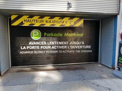 Parkade - vinyle porte garage